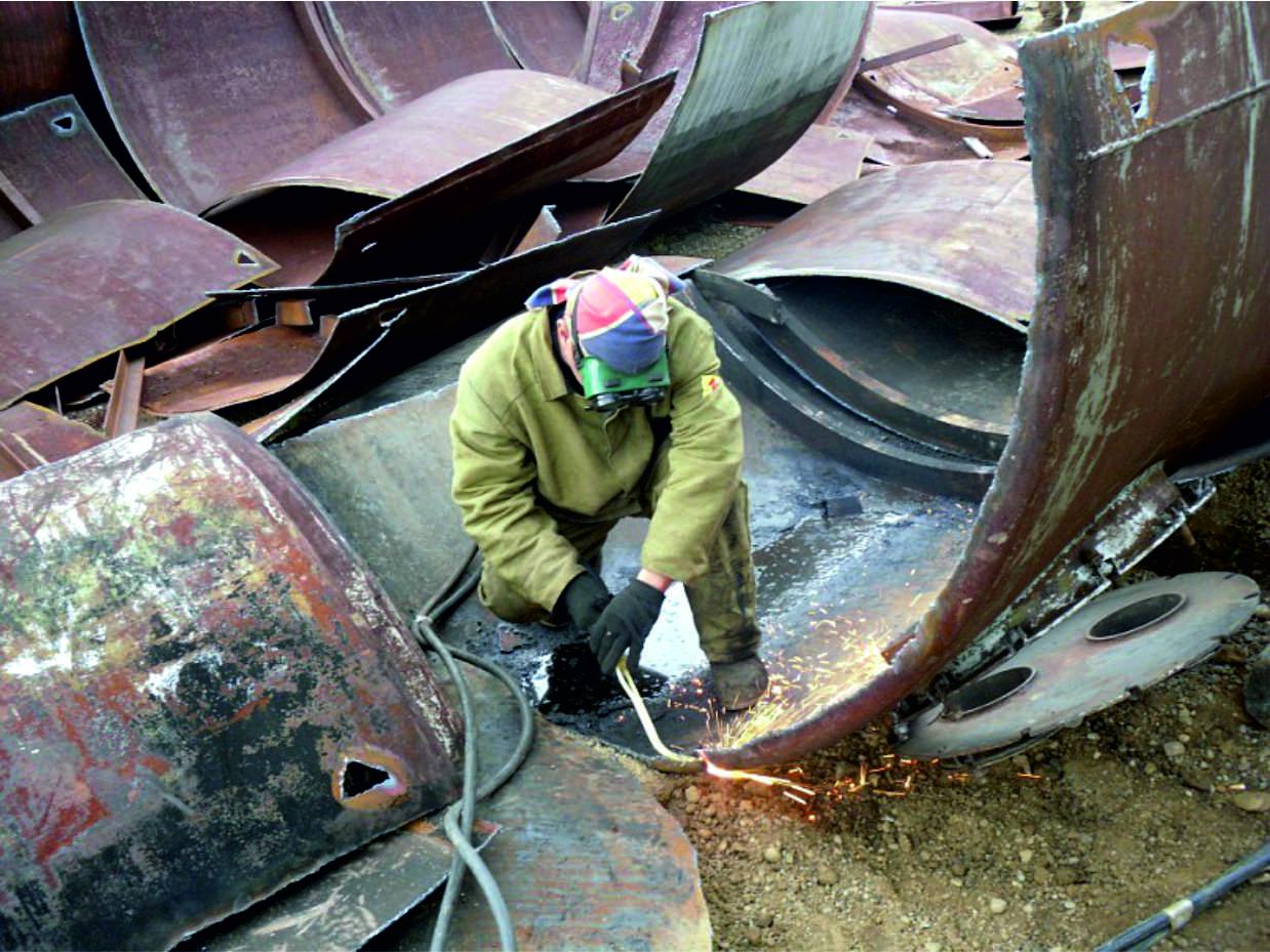 демонтаж металлоконструкций, газовая резка металла киев